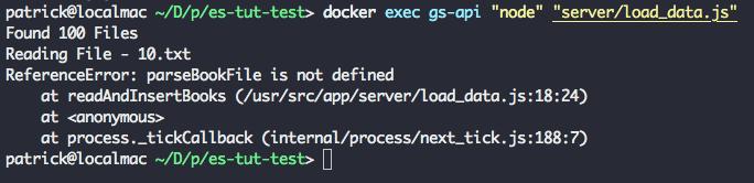 docker exec output