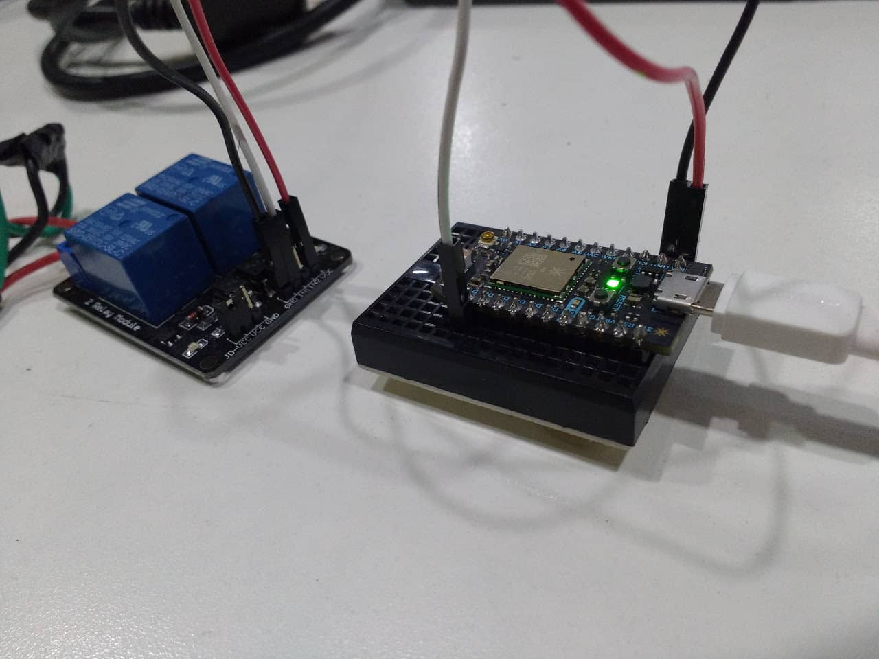 Relay Connection With Photon Microcontroller